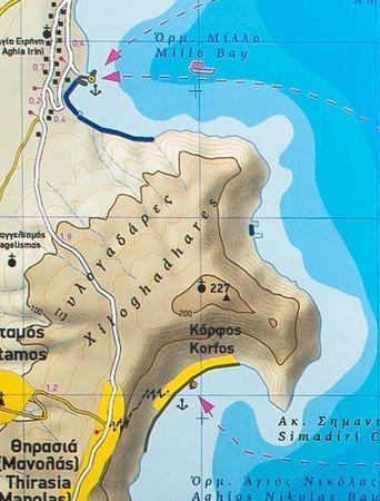 SANTORINI mapa wodoodporna 1:25 000 Terrain Cartography (3)