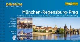 MONACHIUM - REGENSBURG - PRAGA atlas rowerowy BIKELINE 2021