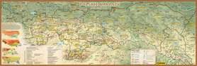 KARPATY POLSKIE mapa 140 cm  x 47,6 cm COMPASS 2021