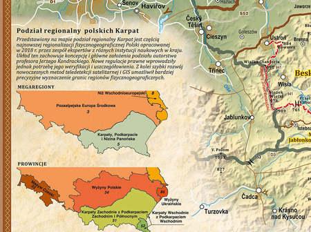 KARPATY POLSKIE mapa 140 cm  x 47,6 cm COMPASS 2021 (2)