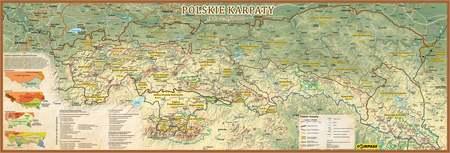 KARPATY POLSKIE mapa 140 cm  x 47,6 cm COMPASS 2021 (1)