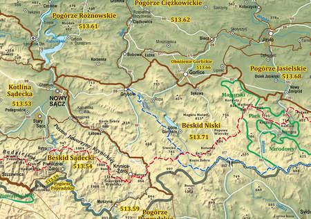 KARPATY POLSKIE mapa 140 cm  x 47,6 cm COMPASS 2021 (3)