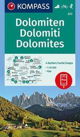 DOLOMITY WK672 mapy turystyczne 1:35 000 KOMPASS
