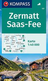 ZERMATT SAAS FEE mapa turystyczna 1:40 000 KOMPASS 2021