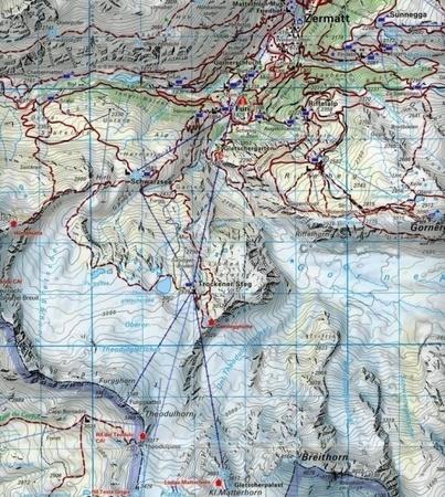 ZERMATT SAAS FEE mapa turystyczna 1:40 000 KOMPASS 2021 (4)
