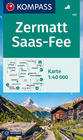 ZERMATT SAAS FEE mapa turystyczna 1:40 000 KOMPASS 2021 (1)