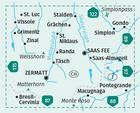 ZERMATT SAAS FEE mapa turystyczna 1:40 000 KOMPASS 2021 (2)
