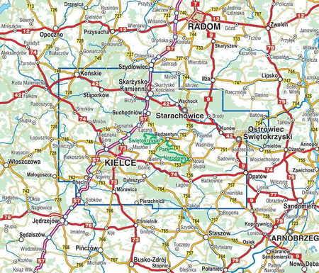 GÓRY ŚWIĘTOKRZYSKIE mapa laminowana 1:60 000 COMPASS 2021 (2)