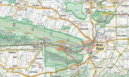 GÓRY ŚWIĘTOKRZYSKIE mapa laminowana 1:60 000 COMPASS 2021 (3)