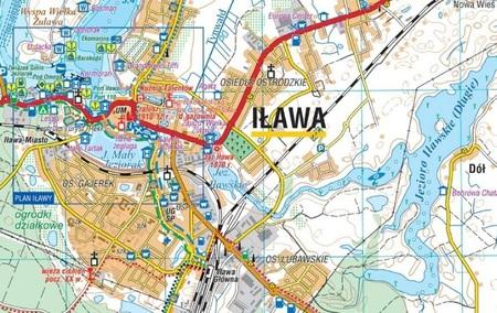 POJEZIERZE IŁAWSKIE WZGÓRZA DYLEWSKIE mapa 1:50 000 COMPASS 2021 (2)