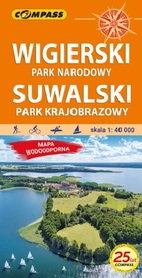 WIGIERSKI PN - SUWALSKI PK mapa laminowana 1:40 000 COMPASS 2021