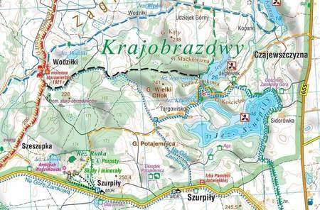 WIGIERSKI PN - SUWALSKI PK mapa laminowana 1:40 000 COMPASS 2021 (2)