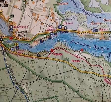 WIGIERSKI PN - SUWALSKI PK mapa laminowana 1:40 000 COMPASS 2021 (4)
