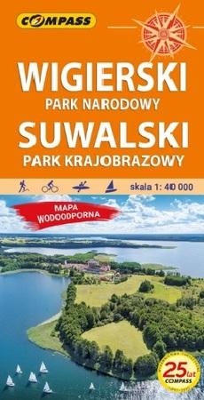 WIGIERSKI PN - SUWALSKI PK mapa laminowana 1:40 000 COMPASS 2021 (1)