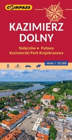 KAZIMIERZ DOLNY i okolice mapa laminowana 1:35 000 COMPASS 2021