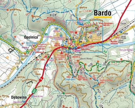 GÓRY BARDZKIE mapa laminowana 1:35 000 COMPASS 2021 (2)