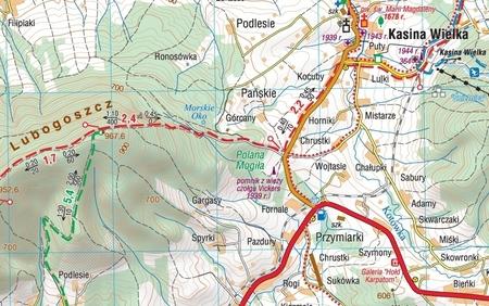BESKID WYSPOWY mapa laminowana 1:50 000 COMPASS 2021 (2)