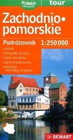 ZACHODNIO-POMORSKIE mapa podróżownik 1:250 000 DEMART 2020