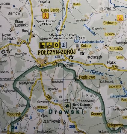 ZACHODNIO-POMORSKIE mapa podróżownik 1:250 000 DEMART 2020 (2)