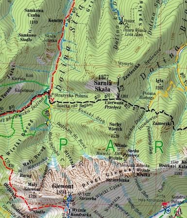 TATRY laminowana mapa turystyczna 1:27 000 EXPRESSMAP 2021 (2)