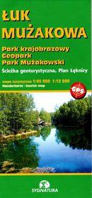 ŁUK MUŻAKOWA Park Krajobrazowy, Geopark, Park Mużakowski mapa turystyczna SYGNATURA 2021