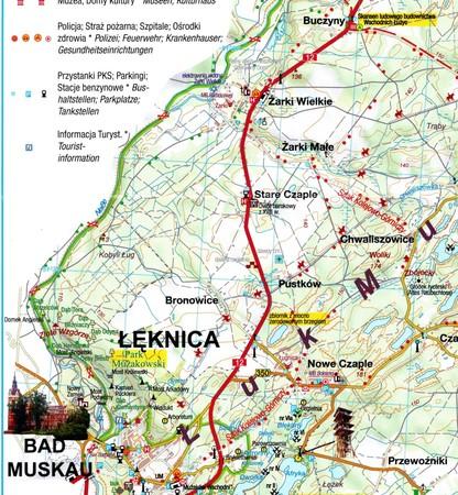 ŁUK MUŻAKOWA Park Krajobrazowy, Geopark, Park Mużakowski mapa turystyczna SYGNATURA 2021 (4)