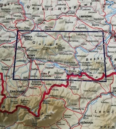 GORCE I PIENINY mapa panoramiczna 1:52 000 EXPRESSMAP 2021 (3)