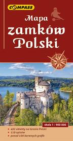 MAPA ZAMKÓW POLSKI 1:900 000 COMPASS 2021