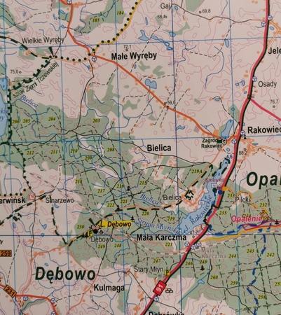 NADLEŚNICTWO STAROGARD mapa 1:60 000 EKOKAPIO 2019 (4)