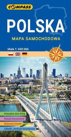 POLSKA mapa samochodowa 1:650 000 COMPASS 2021 (1)