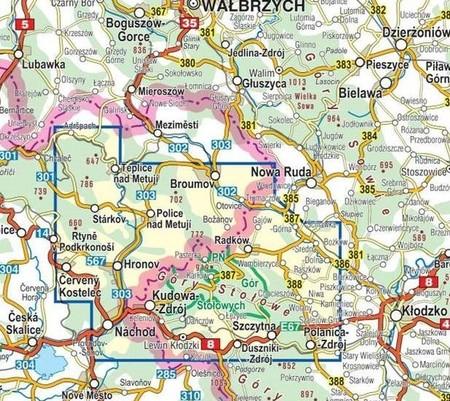 GÓRY STOŁOWE mapa laminowana 1:35 000 COMPASS 2021 (3)