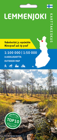 LEMMENJOKI mapa 1:100 000 / 1:50 000 KARTTAKESKUS