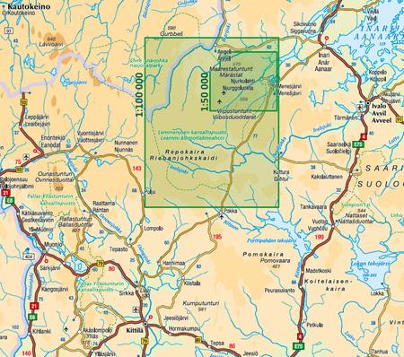 LEMMENJOKI mapa 1:100 000 / 1:50 000 KARTTAKESKUS (2)