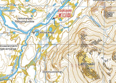 LEMMENJOKI mapa 1:100 000 / 1:50 000 KARTTAKESKUS (3)