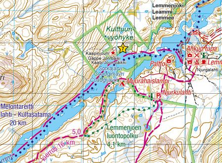 LEMMENJOKI mapa 1:100 000 / 1:50 000 KARTTAKESKUS (4)