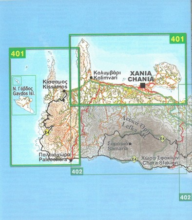 KISSAMOS CHANIA mapa wodoodporna 1:50 000 NAKAS ROAD (2)