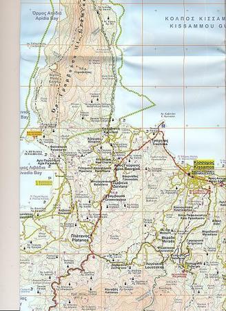KISSAMOS CHANIA mapa wodoodporna 1:50 000 NAKAS ROAD (4)