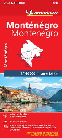 CZARNOGÓRA mapa 1:160 000 MICHELIN 2021 (1)