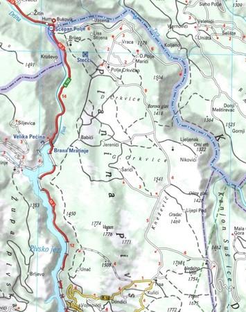 CZARNOGÓRA mapa 1:160 000 MICHELIN 2021 (3)