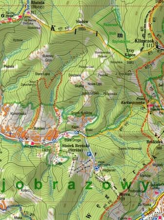 BESKID SĄDECKI laminowana mapa turystyczna EXPRESSMAP 2021 (2)