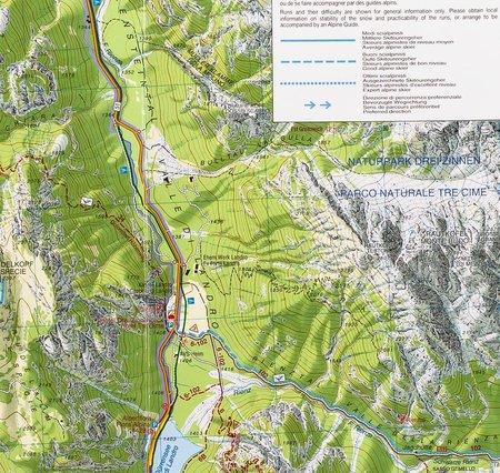 CORTINA D'AMPEZZO DOLOMITY AMPEZZANE 03 mapa turystyczna 1:25 000 TABACCO 2021 (3)