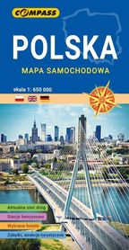POLSKA mapa laminowana 1:650 000 COMPASS 2021