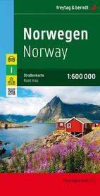 NORWEGIA mapa 1:600 000 FREYTAG & BERNDT 2020