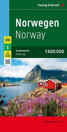 NORWEGIA mapa 1:600 000 FREYTAG & BERNDT 2020 (1)