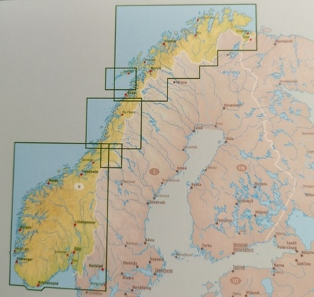 NORWEGIA mapa 1:600 000 FREYTAG & BERNDT 2020 (4)