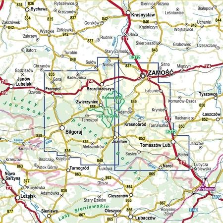 ROZTOCZE ŚRODKOWE mapa laminowana 1:50 000 COMPASS 2021 (2)