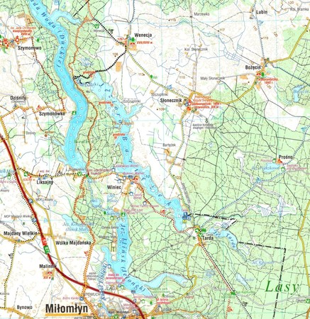 KANAŁ ELBLĄSKI I OKOLICE mapa wodoodporna 1:70 000 COMPASS 2021 (2)