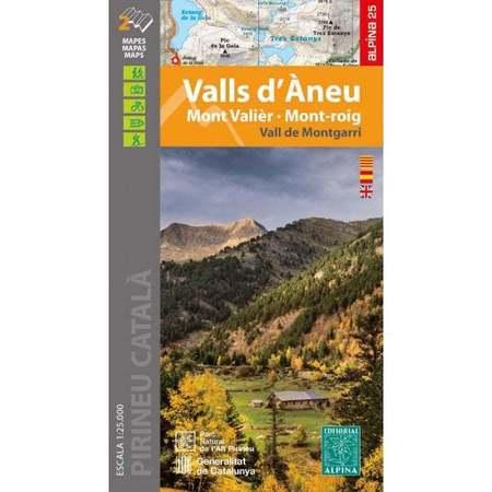 Valls d'Aneu - Mont Valier - Mont-roig / Vall de Montgarri mapa 1:25 000 ALPINA 2021 (1)