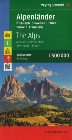 KRAJE ALPEJSKIE mapa 1:500 000 FREYTAG & BERNDT (1)