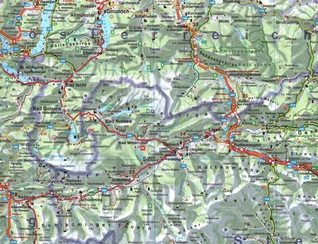 KRAJE ALPEJSKIE mapa 1:500 000 FREYTAG & BERNDT (2)